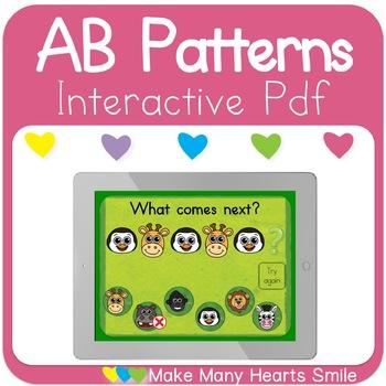 AB Patterns Zoo Animals Interactive Pdf
