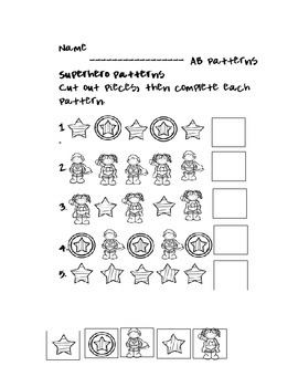 AB Patterns for Kindergarten