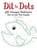AB Shape Linear Pattern Dot to Dot Fish Math Activity