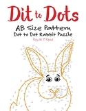 AB Size Linear Pattern Dot to Dot Rabbit Math Activity