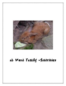 AB WORD FAMILY ACTIVITIES