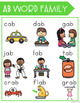 AB Word Family Activities and Worksheets *NO PREP*