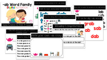 AB Word Family Digital Notebook