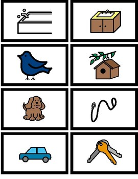 ABA Autism Instruction - Matching Associated Pairs (Things that go together)