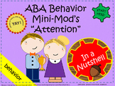 ABA Behavior Intervention Plan - Attention