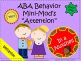 ABA Behavior Intervention Plan - Attention