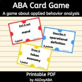 ABA Card Game - Applied Behavior Analysis Terminology - Th