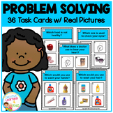 Problem Solving Task Cards ABA Special Education