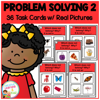 Problem Solving 2 Task Cards ABA Special Education