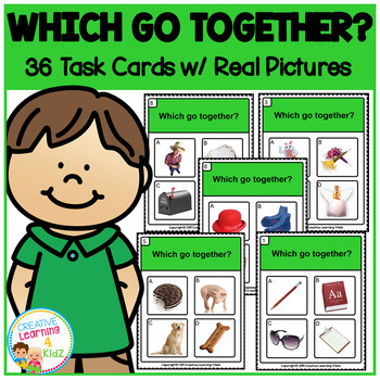Which Go Together? Task Cards ABA Special Education