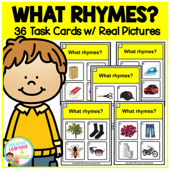 ABA Task Cards 4 What Rhymes
