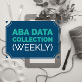 ABA Data Collection Sheets (Weekly)