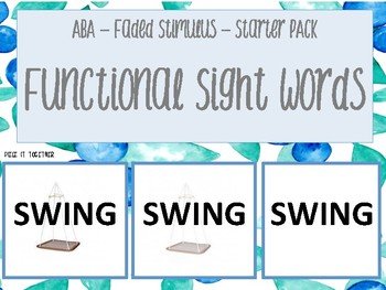 ABA Faded Stimulus Functional Sightwords