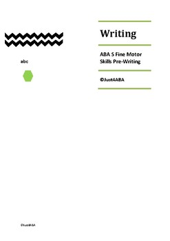 ABA Fine Motor Skills: Pre-writing shapes