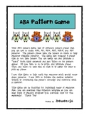 ABA Pattern Game for Special Education
