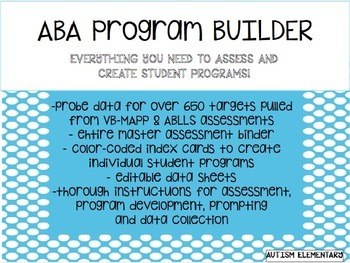 ABA Program Builder for Students with Autism