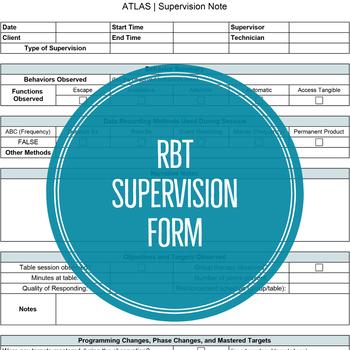 RBT Supervision Form (EXCEL)