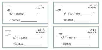 ABA/Verbal Behavior Skill Tracking Sheets - Receptive (Listener Responding)