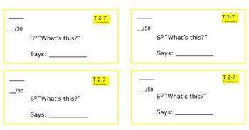 ABA/Verbal Behavior Skill Tracking Sheets - Tacting