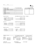 ABA for autism Data Sheet