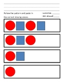 ABAB Pattern Shape worksheet