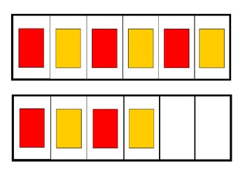 ABAB Pattern Strips - Primary and Secondary Colors