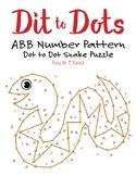 ABB Number Linear Pattern Dot to Dot Snake Math Activity