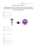 ABBI SAW A WUWU handout and worksheet -- complex sentences