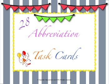 ABBREVIATION TASK CARDS