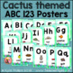 ABC 123 Alphabet and Number Posters - Cactus Theme