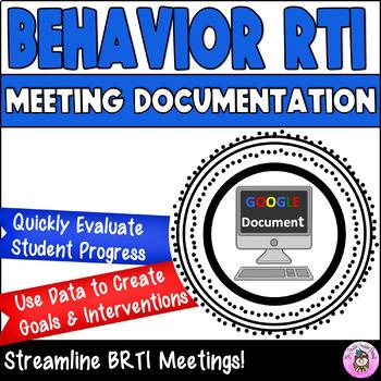 ABC...123 Behavior RTI Meeting Documentation Form