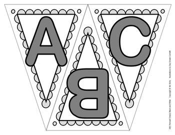 ABC, 123 Black/White Pennants