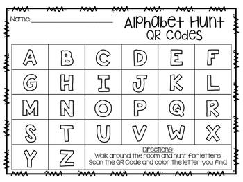 ABC & 123 Hunt (QR Codes)