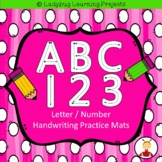 ABC 123  Letter / Number Handwriting Mats