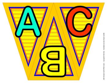 ABC, 123 Pennants CA Colors