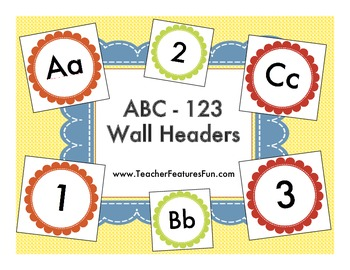 ABC-123 Wall Headers