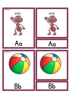 ABC 3 part cards