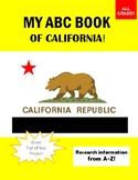 My ABC (A-Z) Book of California