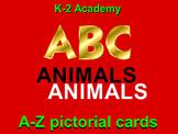 ANIMALS ALPHABET: 87 A-Z Cards. ABC & ZOOLOGY Learner Vocabulary Builder PRE K-4