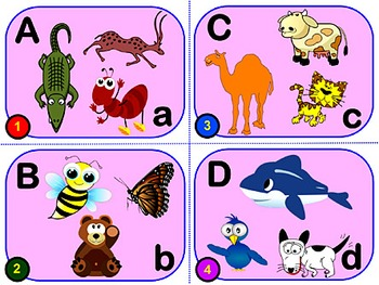 ANIMALS ALPHABET: 87 A-Z Cards. ABC & ZOOLOGY Learner Vocabulary Builder PRE K-4