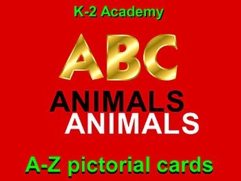 ANIMALS ALPHABET: 87 A-Z Cards. ABC & ZOOLOGY Learner Voca