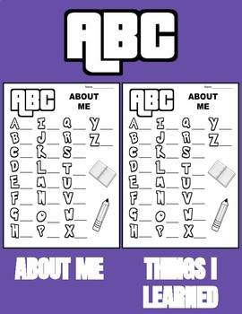 ABC About Me & Things I Learned