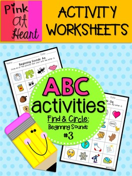 ABC Activities 3: Find and Circle - Beginning Sounds