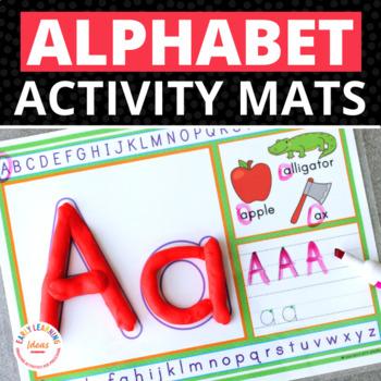 Alphabet Play Dough Mats Activity Mats: Multi-sensory ABC
