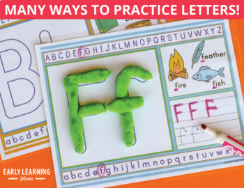 Alphabet Play Dough Mats Activity Mats: Multi-sensory ABC Activity