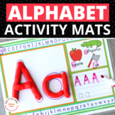 Alphabet Play Dough Mats Activity Mats | Multi-sensory ABC Activity