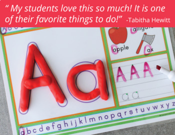 Alphabet Play Dough Mats Activity Mats | Multi-sensory ABC Activity
