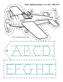 ABC Airline Alphabet Banner