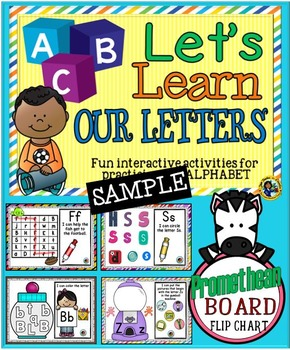 ABC Alphabet Activities ~ Promethean Board Flip Chart - SAMPLE