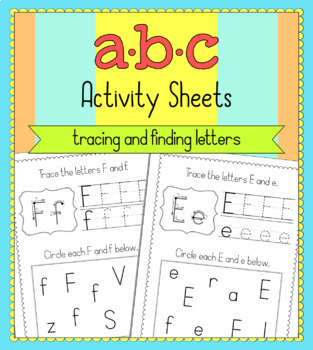 ABC Alphabet Activity Sheets - Tracing and Identification